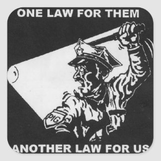 one law for them square sticker