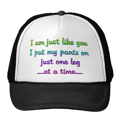 One Leg at a time Mesh Hats