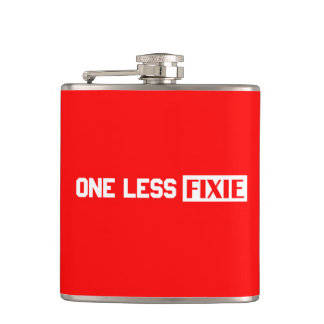 One Less Fixie Hip Flask