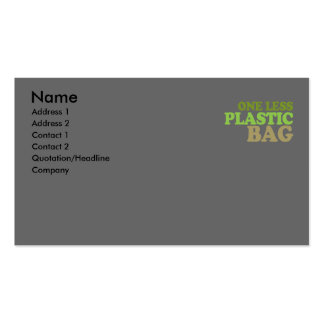 One less plastic bag T-shirt Earth Day T-shirt Business Card Templates
