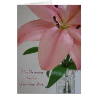 One Life Lily Sympathy Card