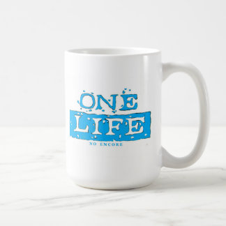 ONE LIFE NO ENCORE (light blue) MUG
