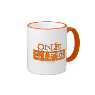 ONE LIFE NO ENCORE (orange) MUG