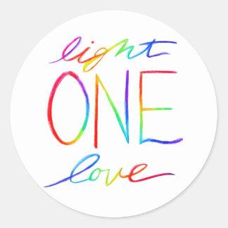 One Light & Love Inspirational Words Sticker Decal