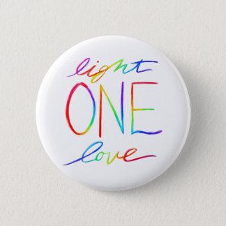 One Light One Love Inspirational Rainbow Words Pin