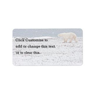 One Lonely Polar Bear Label