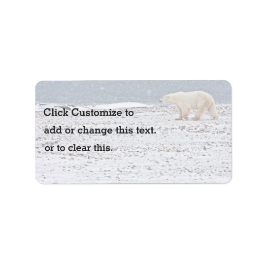 One Lonely Polar Bear Label