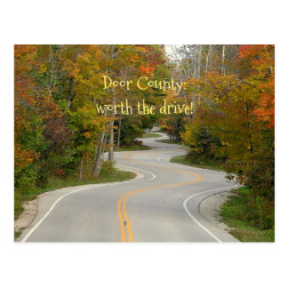 ONE LONG STRETCH OF S-CURVES/FALL COLORS/DOOR COUN POSTCARD