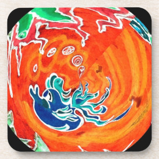 One Lost Soul Swimming In a Fish Bowl Beverage Coasters