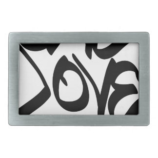 one-love belt buckle
