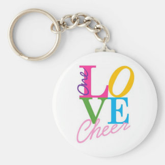 One Love Cheer Keychain