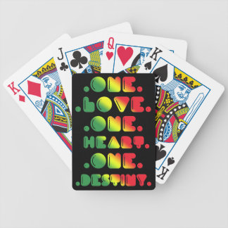 ONE LOVE, ONE HEART, ONE DESTINY. BICYCLE PLAYING CARDS