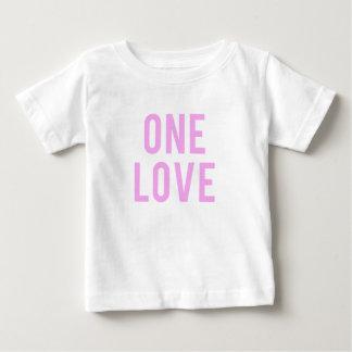 One Love Pink Print Baby T-Shirt