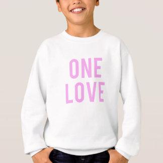 One Love Pink Print Sweatshirt