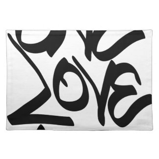 one-love placemat