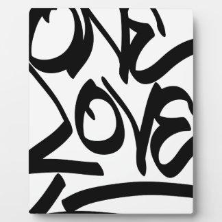 one-love plaque