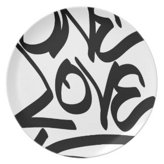 one-love plate