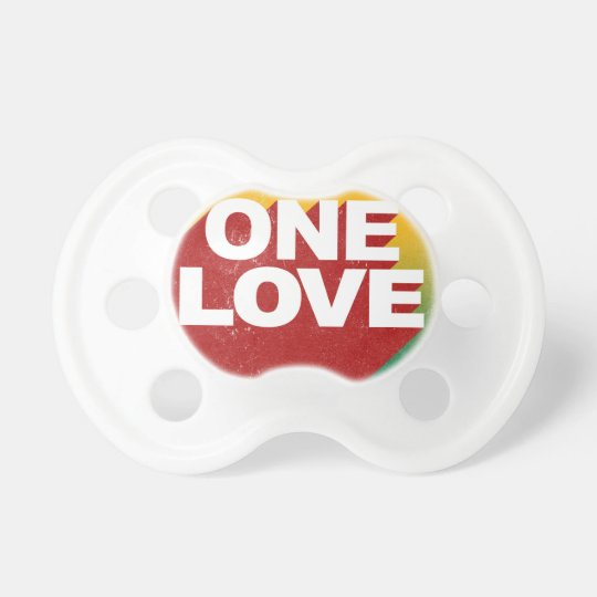One Love Poster Baby Pacifier
