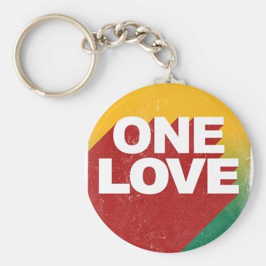 One Love Poster Basic Round Button Keychain