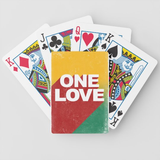 One Love Poster Bicycle Playing Cards