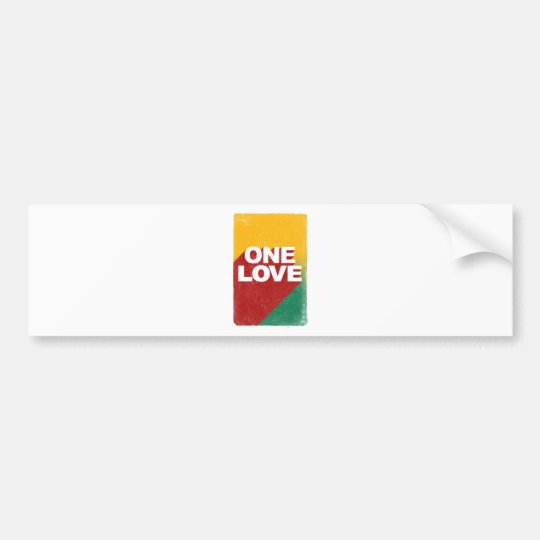 One Love Poster Bumper Sticker