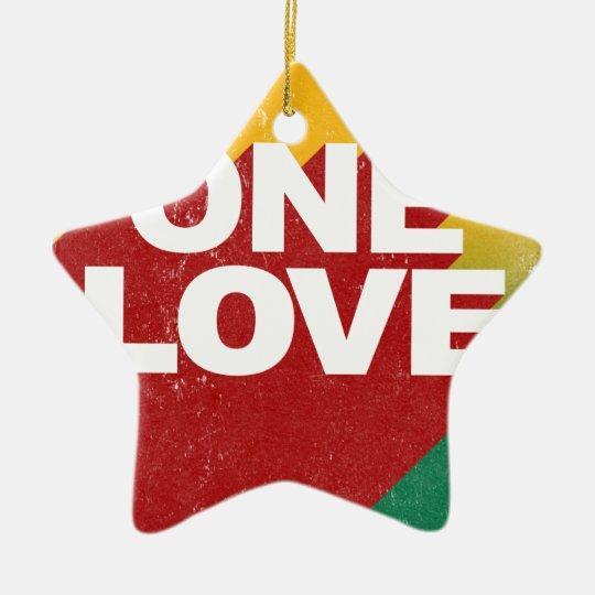 One Love Poster Ceramic Star Ornament