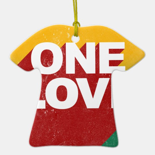 One Love Poster Ceramic T-Shirt Ornament