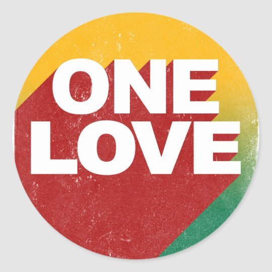 One Love Poster Classic Round Sticker