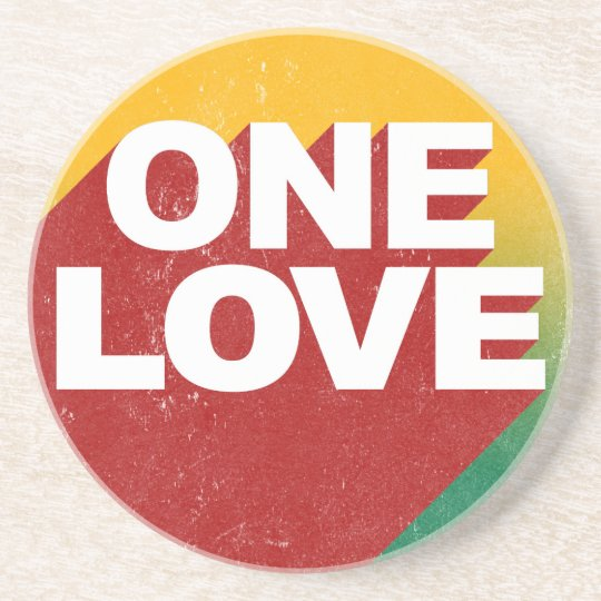 One Love Poster Coasters