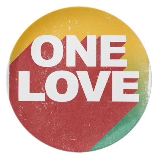 One Love Poster Dinner Plates