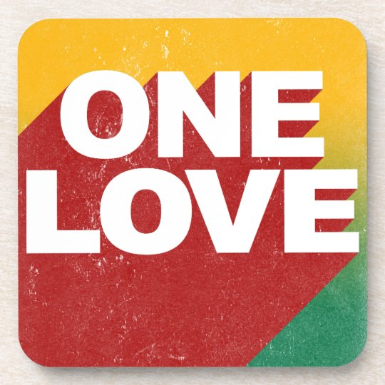 One Love Poster Drink Coasters
