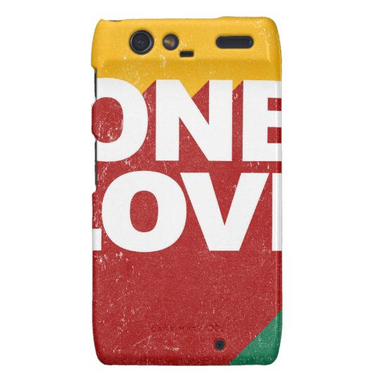 One Love Poster Droid RAZR Cases