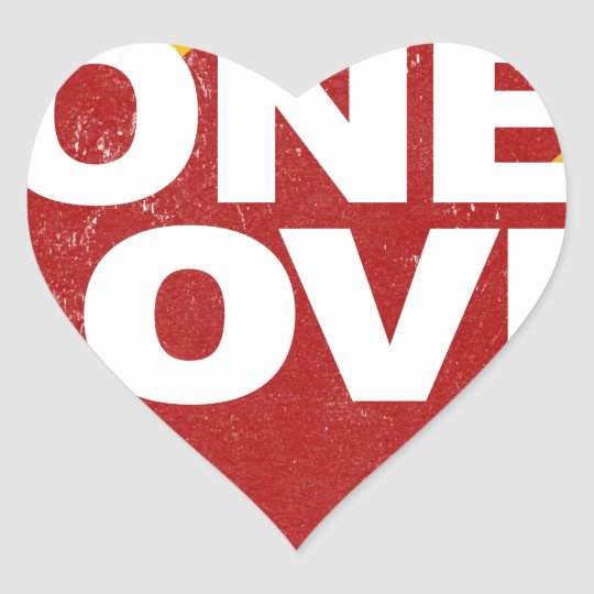 One Love Poster Heart Sticker