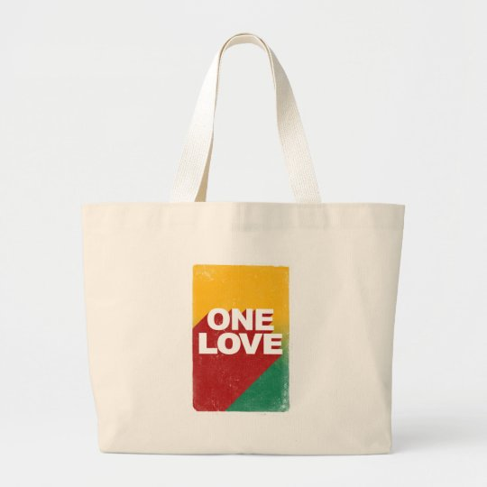 One Love Poster Large Tote Bag