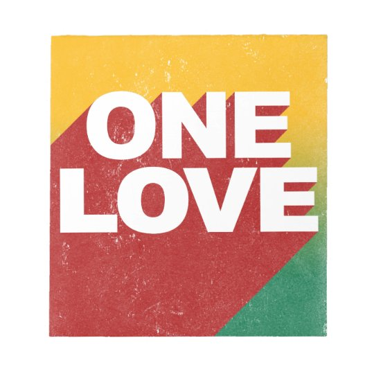 One Love Poster Notepad