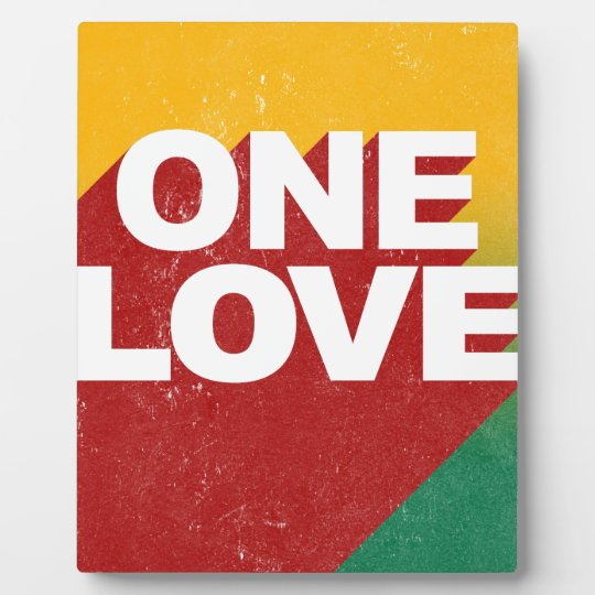 One Love Poster Plaque