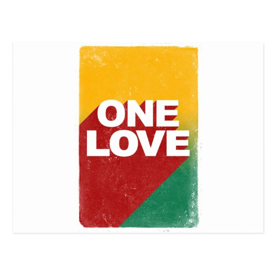 One Love Poster Postcard