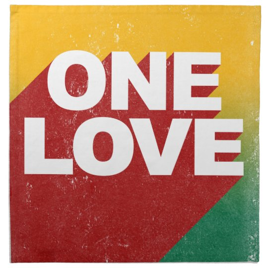 One Love Poster Printed Napkin