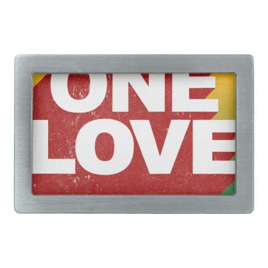 One Love Poster Rectangular Belt Buckles