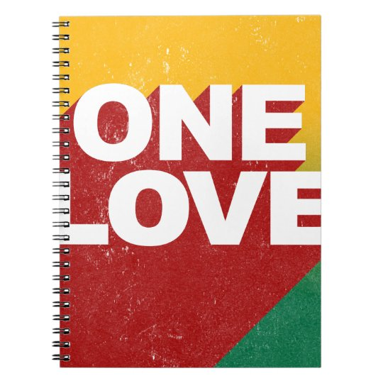 One Love Poster Spiral Notebook