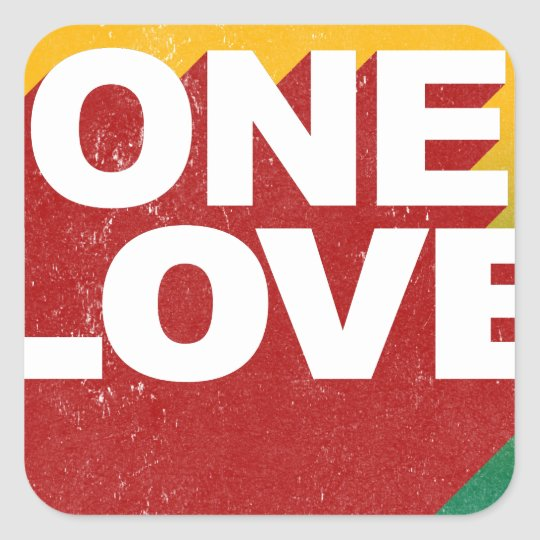 One Love Poster Square Sticker