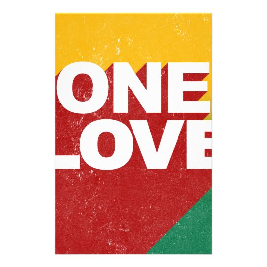 One Love Poster Stationery