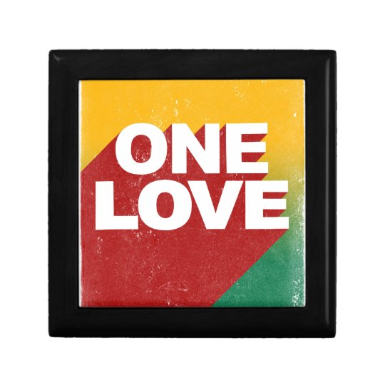 One Love Poster Trinket Boxes