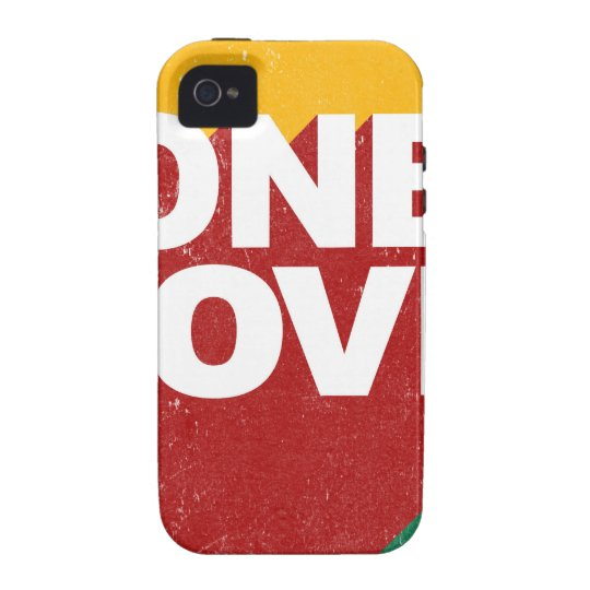 One Love Poster Vibe iPhone 4 Cover