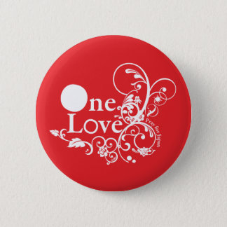 One Love - Pray for Japan (Red) 2 Inch Round Button