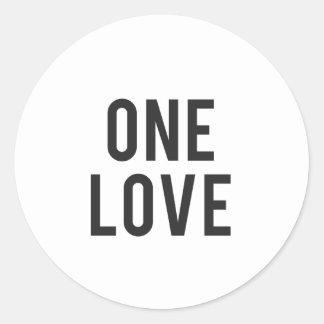One Love Print Classic Round Sticker