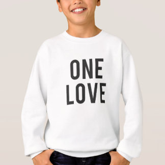 One Love Print Sweatshirt