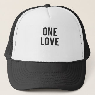 One Love Print Trucker Hat