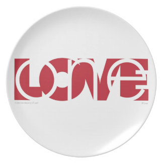 One Love (r) Plate
