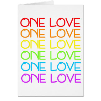 One Love Rainbow Pride Greetings Card
